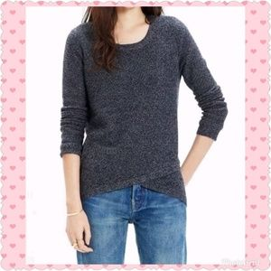 Madewell Pullover Feathered Faux Wrap Sweater